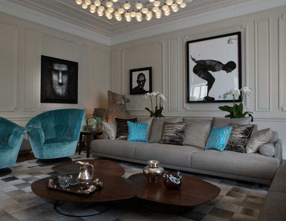 Knightsbridge House by Tollgard Design Group The colors that go with teal?  Check out these color combinations