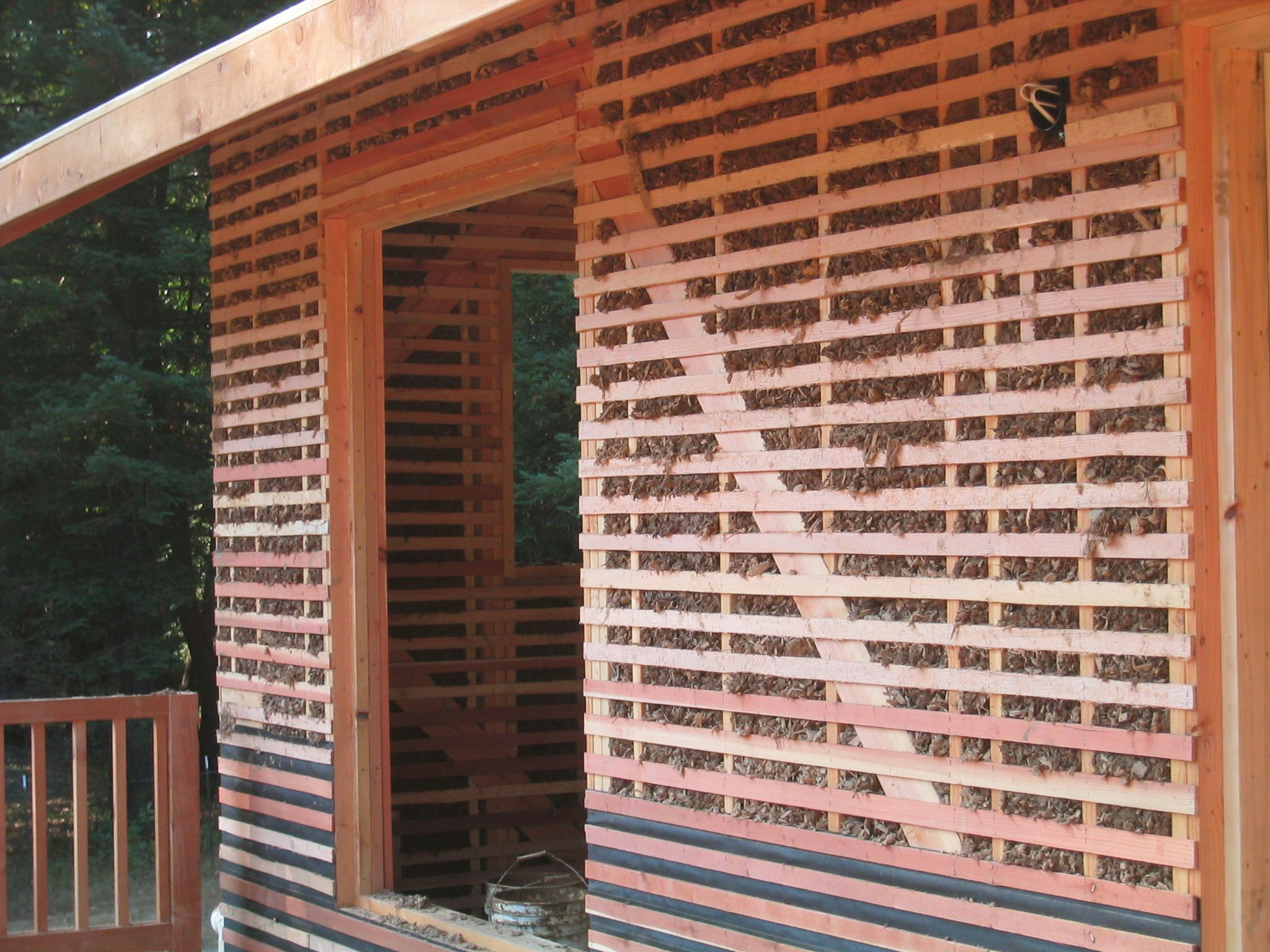 Slatted-with-wood chip clay drywall alternatives that you should consider