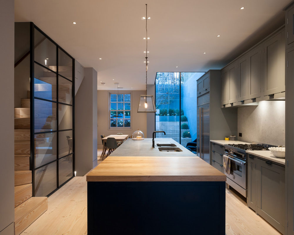 Campden-Grove-by-Tigg-Coll-Architects ideas for the kitchen in the basement to create a fantastic kitchen