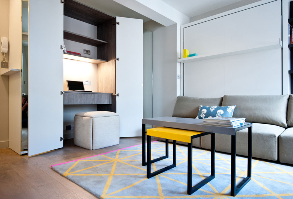 City-Studio-Apartment-by-Black-and-Milk-Interior-Design-London How to choose the best studio apartment furniture for an efficient space