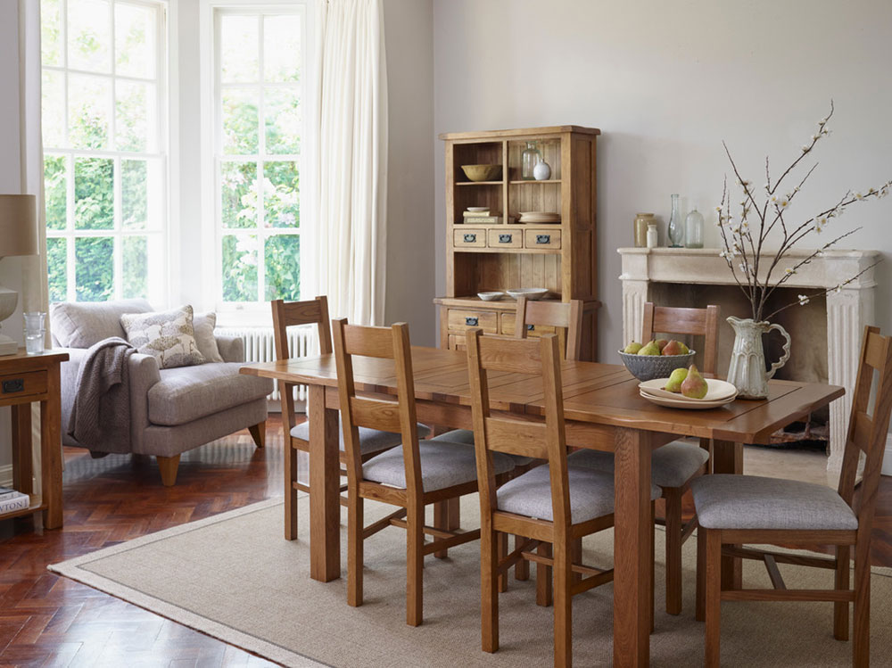 Original-Rustic-Dining-Room-by-Oak-Furnitureland How to choose the best studio apartment furniture for an efficient space