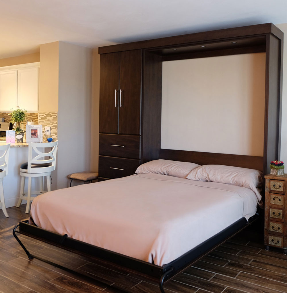 Studio-wall-bed-of-closet-n-storage-concepts-NJ-PA-n-DE How to choose the best studio apartment furniture for an efficient space