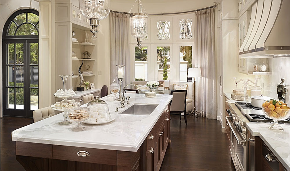Downview-Transitional-Kitchen-from-Saint-Clair-Kitchen-n-House How to make transitional decor and achieve a great result