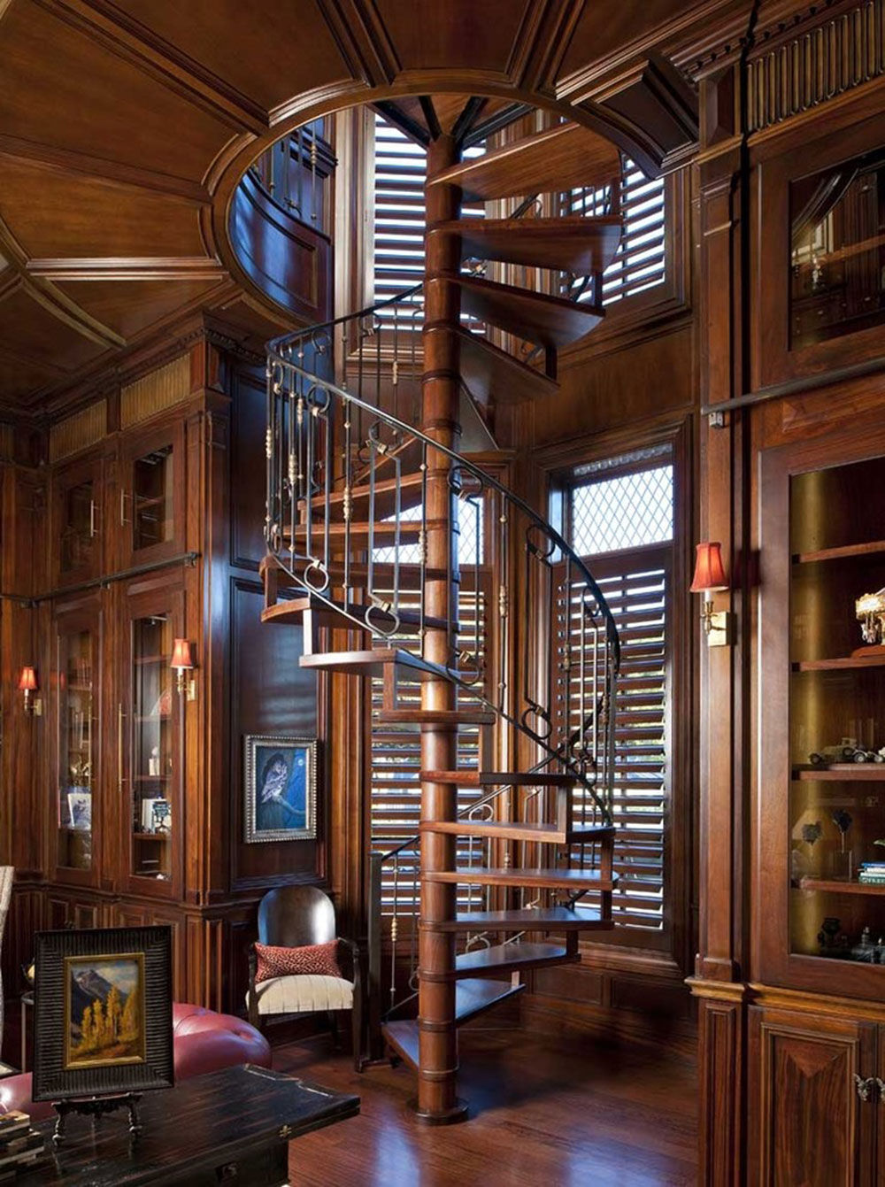 North-Dallas-Residence-by-Dallas-Design-Group-Interiors Spiral Staircase Pictures and Things You Should Know About Them
