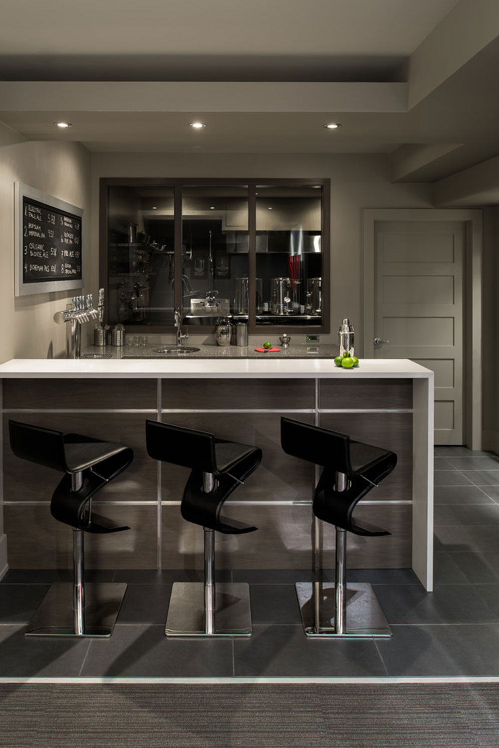 Basement-Bar-and-Brewery-by-Just-Basements How to decorate with minimalist furniture