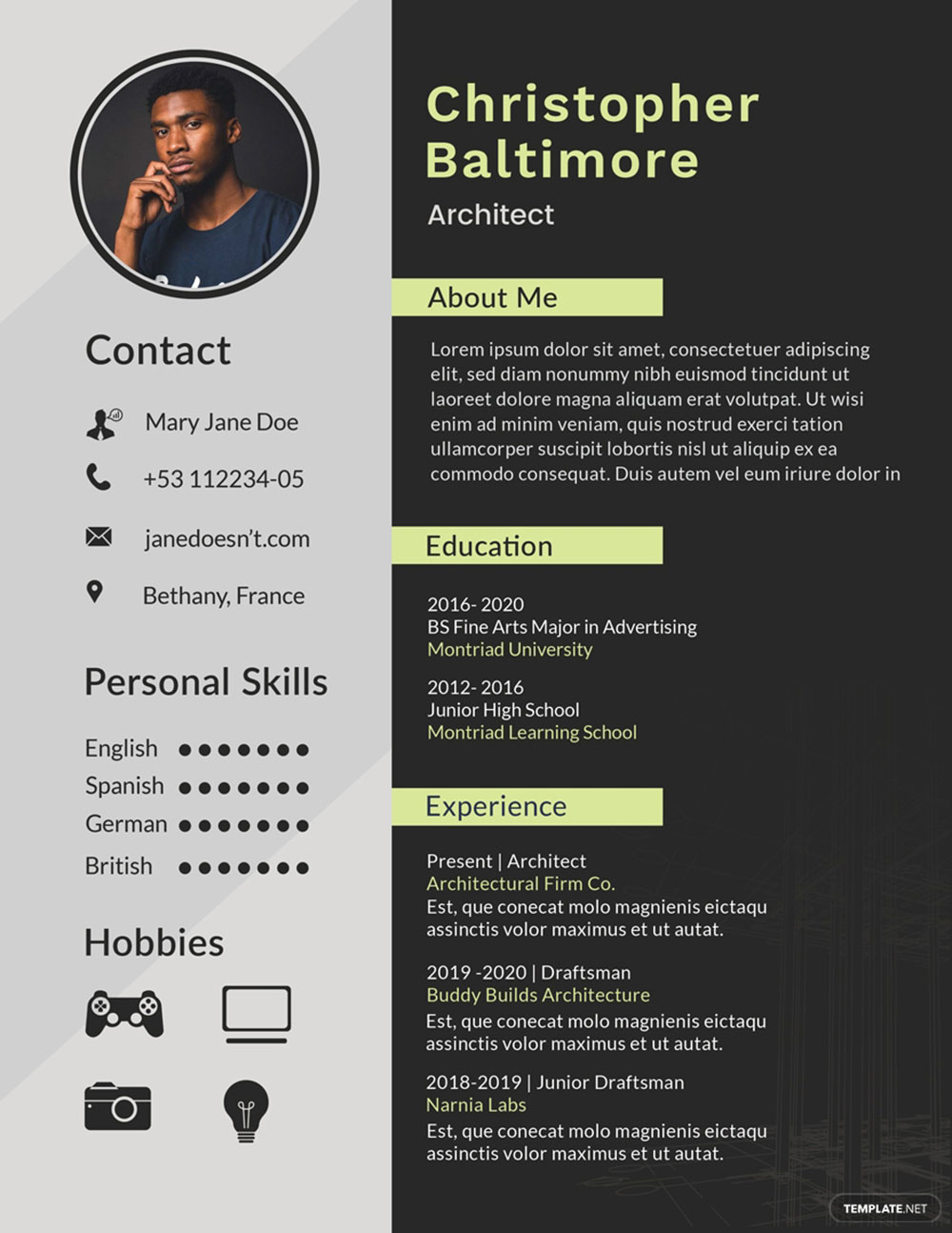 chris The architecture résumé you are hired with (templates included)