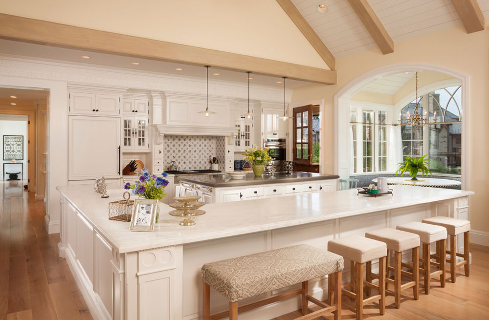 Country-HomebyTHINK-ArchitectureInc L-shaped ideas for kitchen islands that you can try out in your kitchen