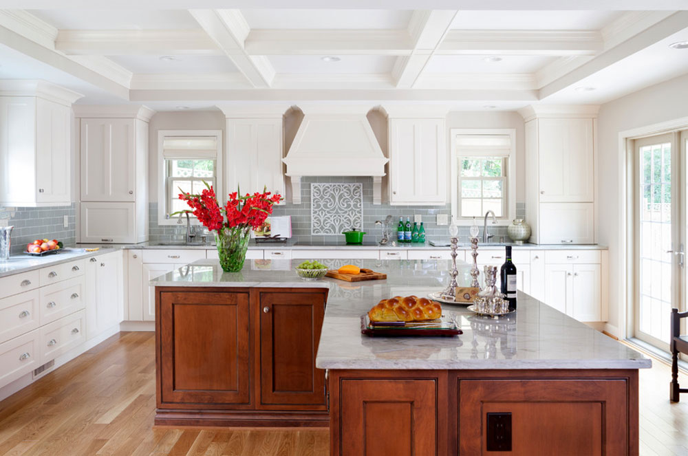 South-Shore-Gambrel-by-JACK-ROSEN-CUSTOM-KITCHENS Ideas for L-shaped kitchen islands to try out in your kitchen