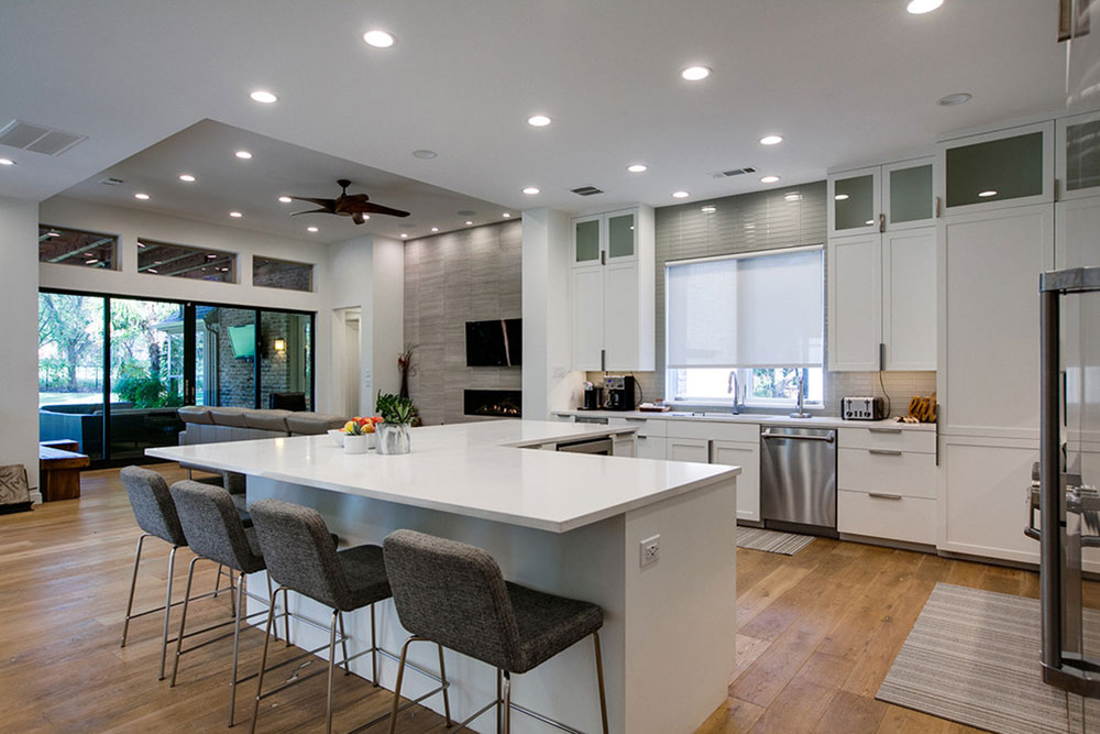 River-Oaks-Contemporary-Complete-Transformation-by-Pipkin-Homes-LLC L-Shaped Kitchen Island Ideas To Try In Your Kitchen