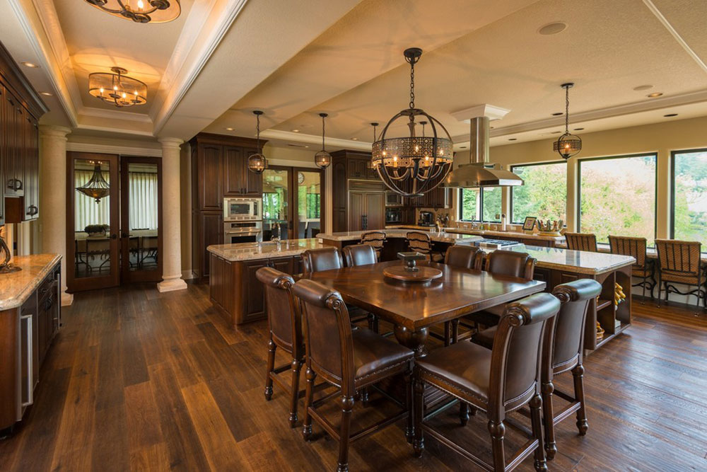 Willamette-River-Italian-Villa-by-Riverland-Homes-Inc L-Shaped Kitchen Island Ideas to Try in Your Kitchen