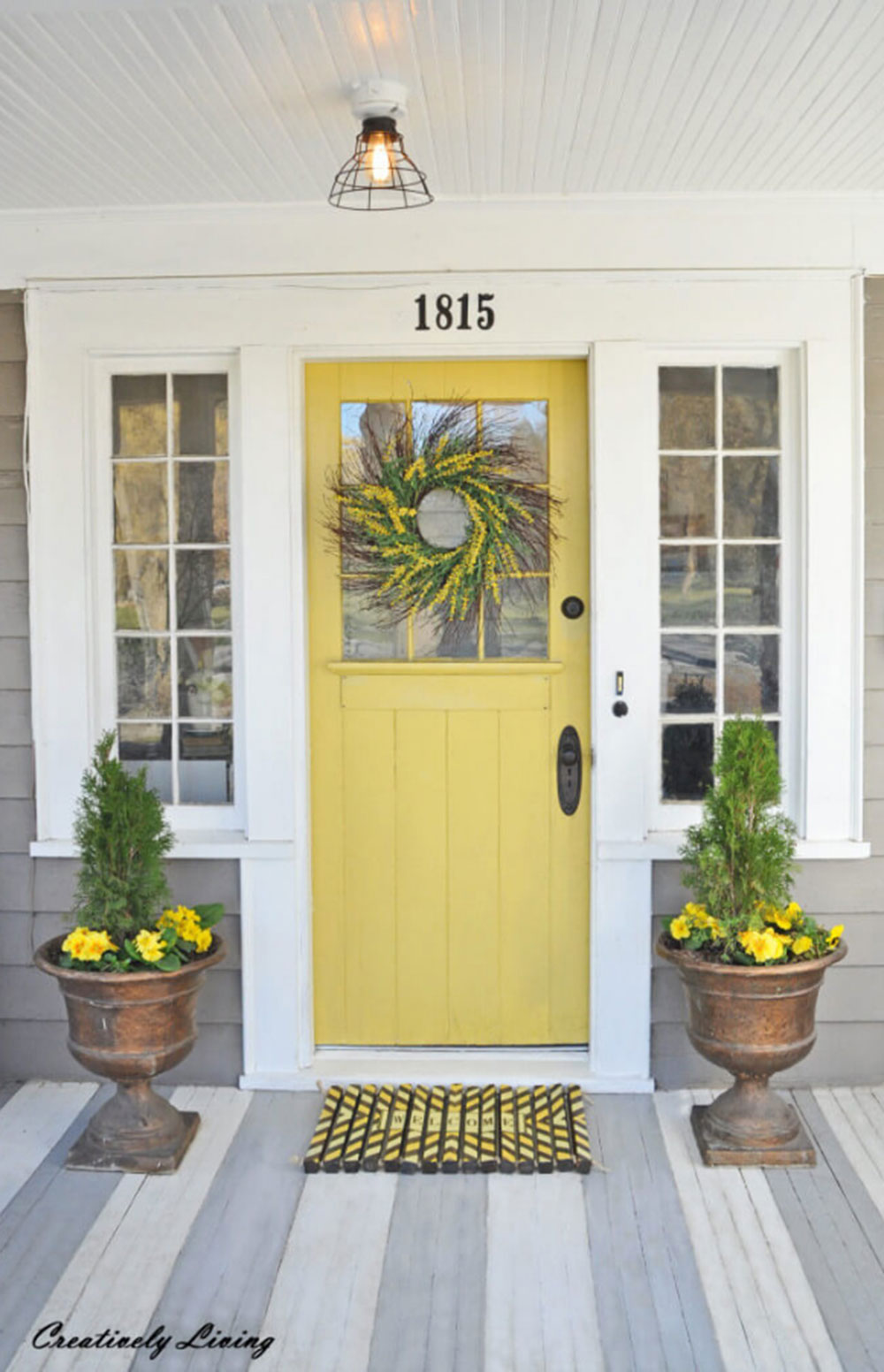 They-Call-Me-Mellow Yellow front door ideas for a lively house entrance