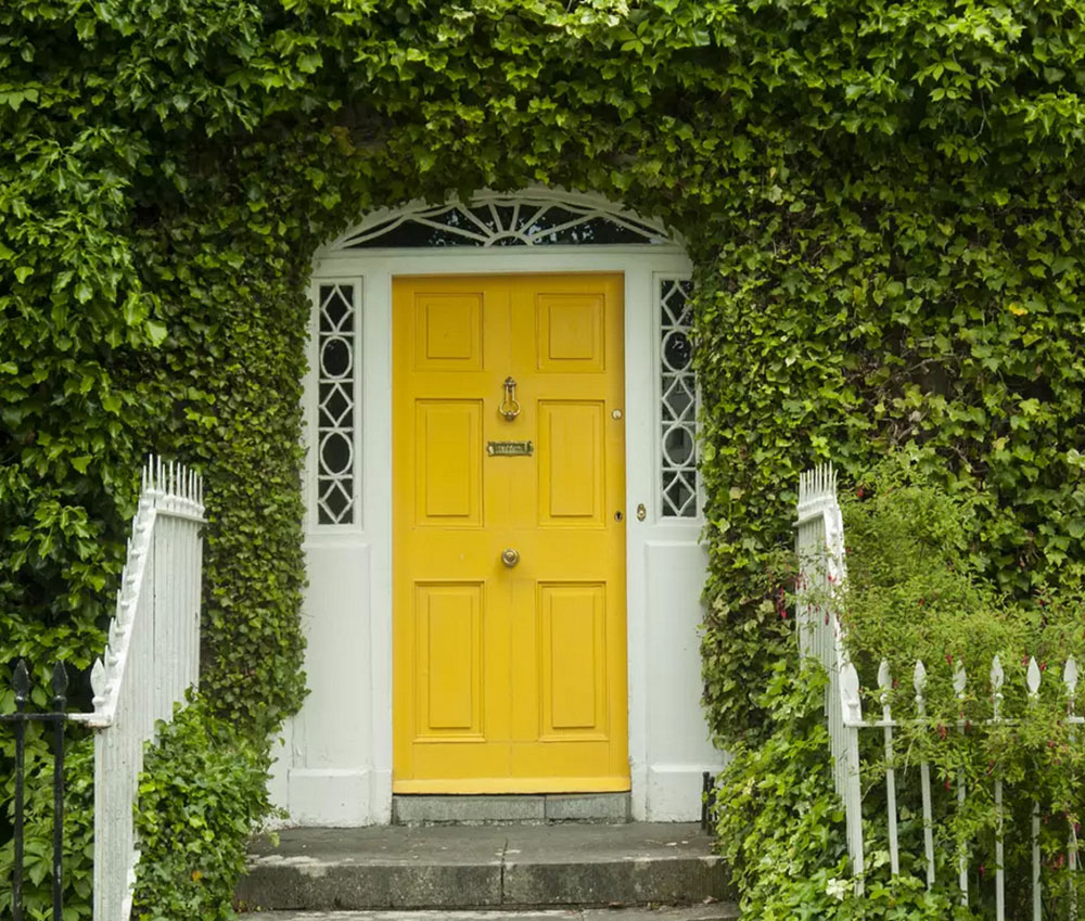 Georgian Yellow Front Door Ideas for a Vibrant Entrance