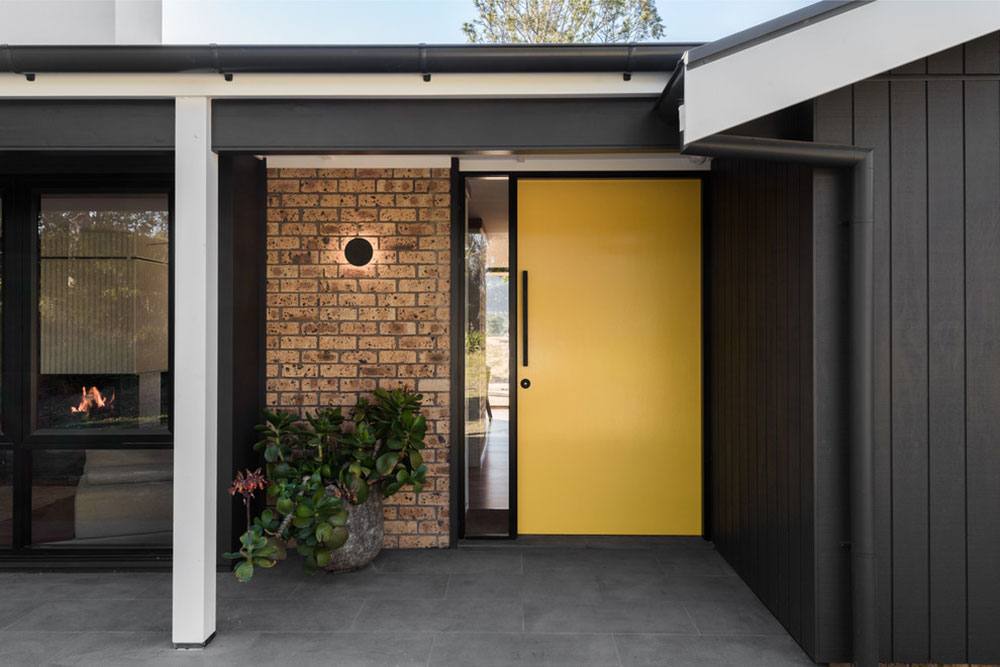 Mountview-by-Benedict-Design Yellow front door ideas for a lively house entrance