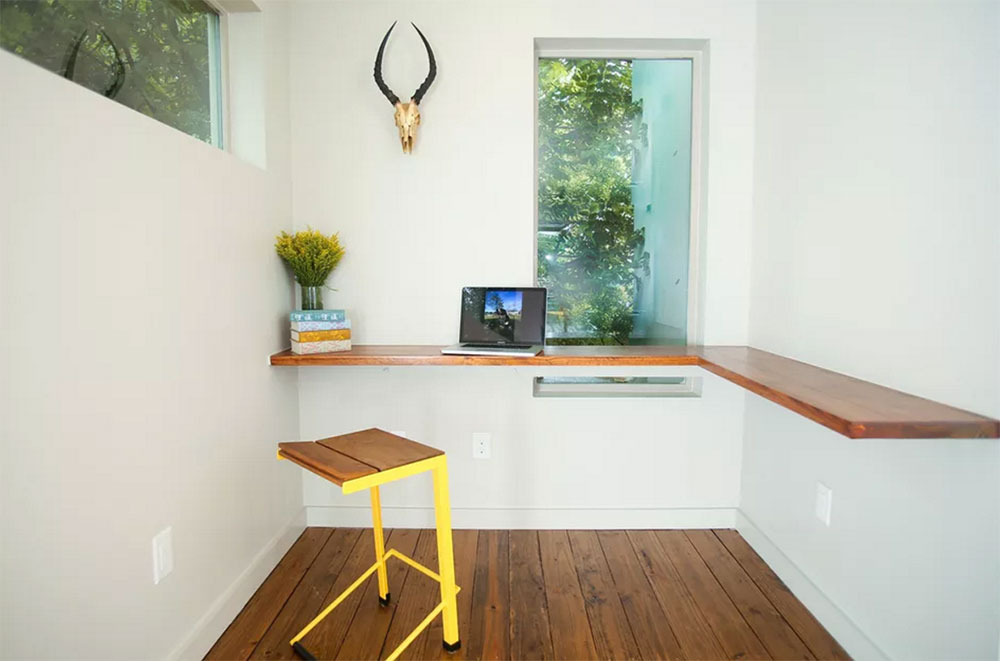 Wrap Around Counter Use a desk for a small space and the options to try