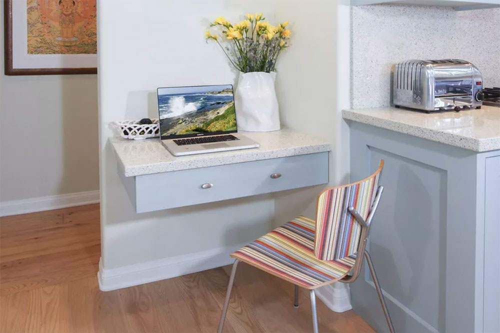 Floating Drawer Use a desk for a small space and the options you can try