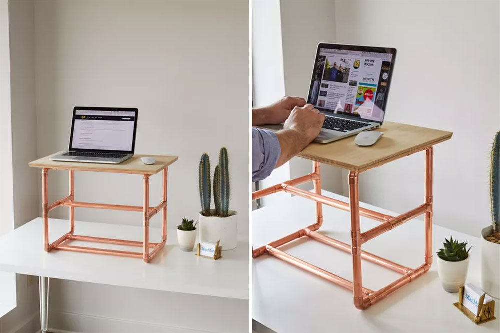 DIY Desk Riser Use a desk for a small space and the options to try
