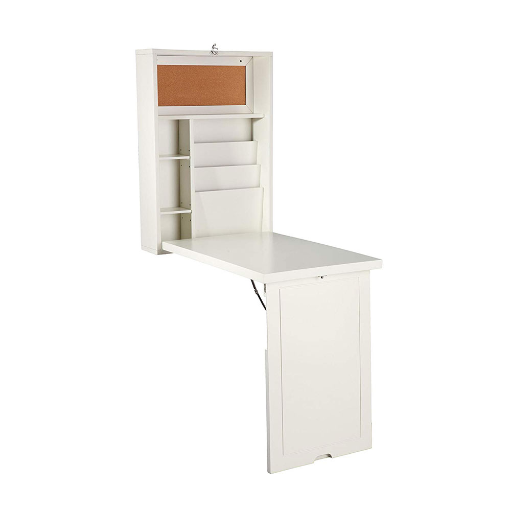 Fold Out Convertible Floating Desk Use a desk in a small space and the options to try