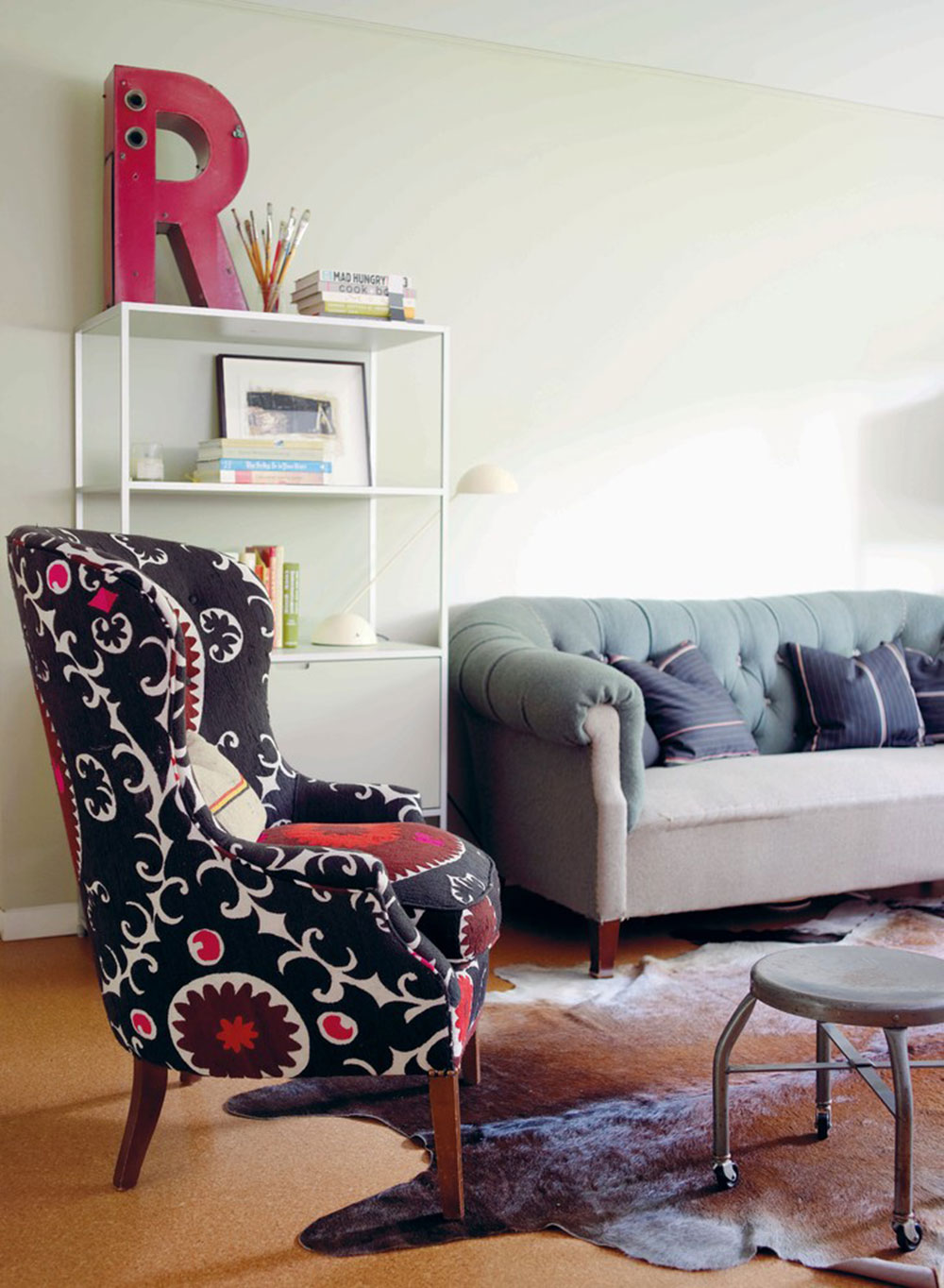 Modern-Vintage-by-Emily-Chalmers-by-Emily-Chalmers-Caravan-Style-Ltd Tips on adding a wing chair to your room