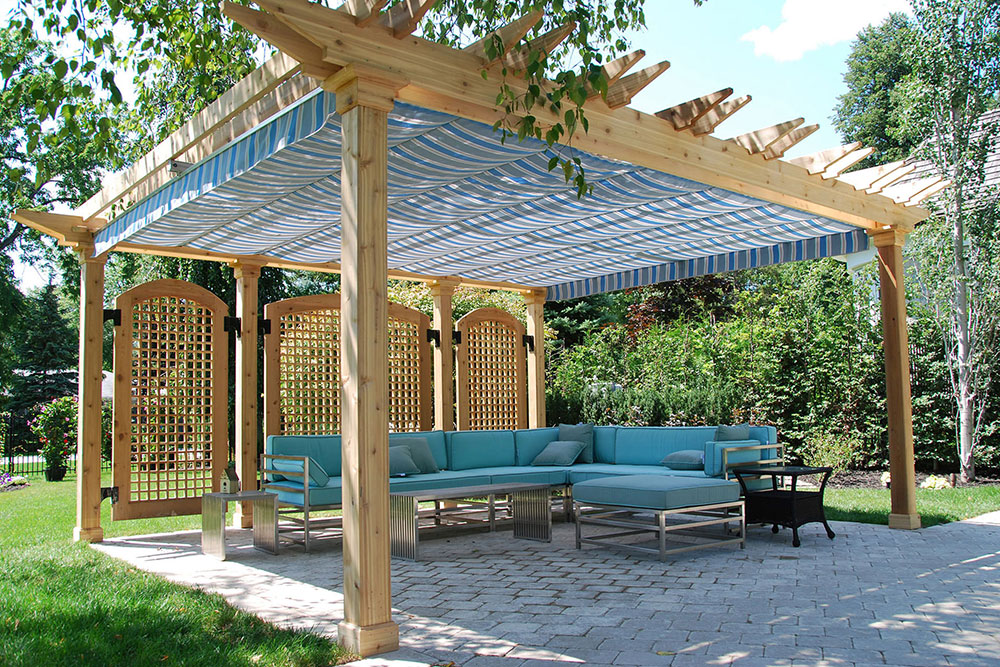 Retractable pergola-canopy-oakville-1 easy ways to add exterior design features to your home
