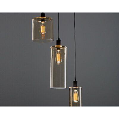 Hammerton Studio Apothecary Round 3-Light Cluster Pendant Shade .