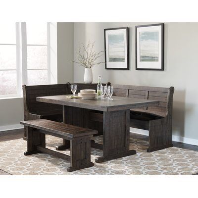Murilda Breakfast Nook Dining Set | Dining table with bench .