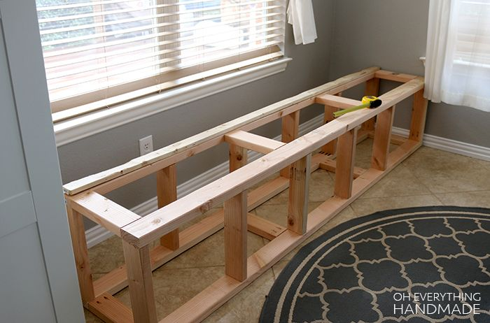 How to build a kitchen nook bench [Full Step-by-Step Guide .