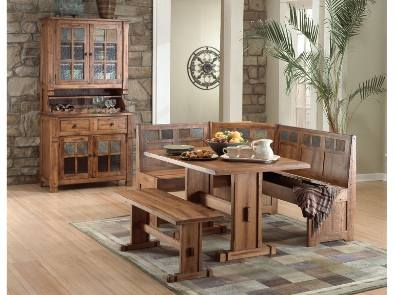 Sunny Designs Dining Room Sedona Breakfast Nook Set With Side .