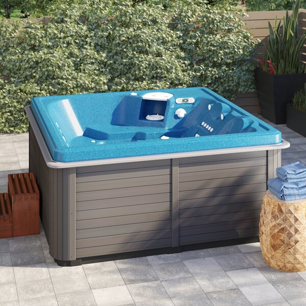 ThermoSpas 4-Person 42-Jet Hot Tub with LED Light and Ozone System .