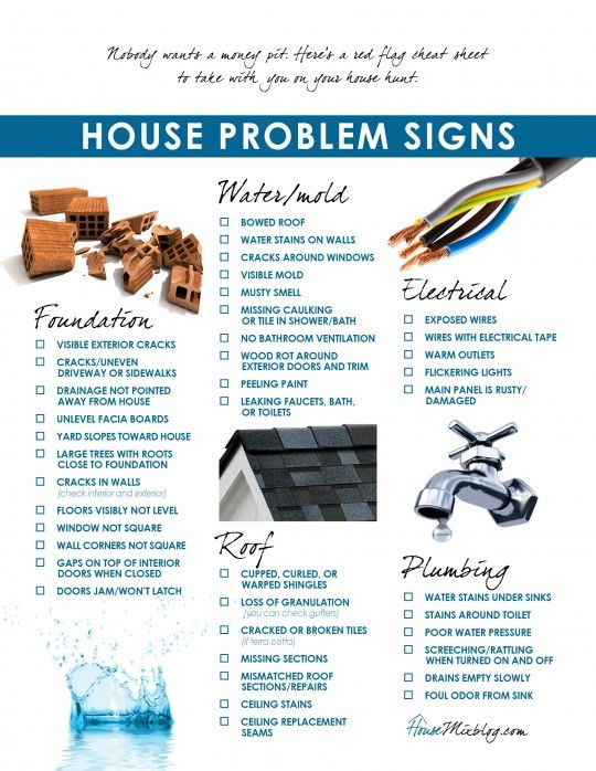 Moving part 3: Problems to look for when buying a house checklist .