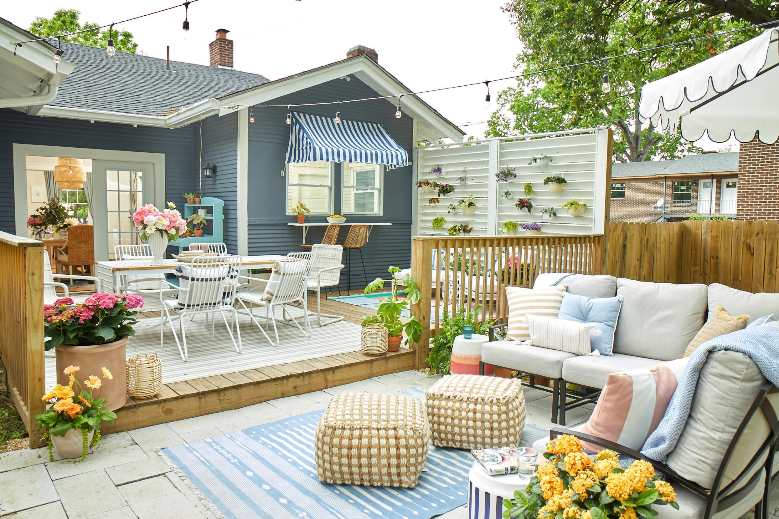 5 decorating tips to turn your little   courtyard into an outdoor oasis