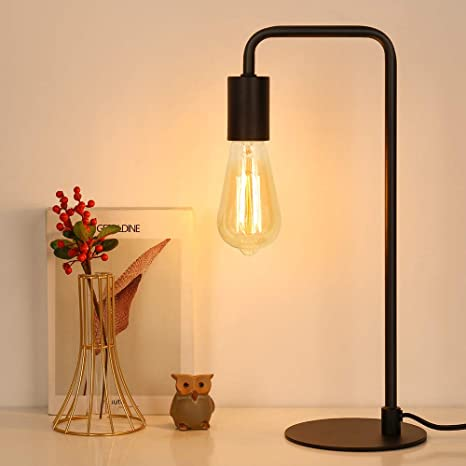 Industrial Table Lamp, Edison Desk Lamp, Small Lamps for Bedroom .