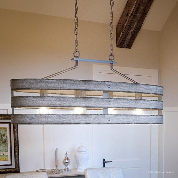 "Shop Luxury Modern Farmhouse Chandelier, 17""H x 38.5""W, with ."