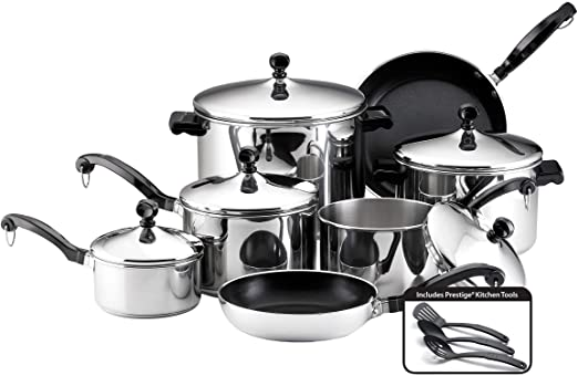 Amazon.com: Farberware 50049 Classic Stainless Steel Cookware Pots .