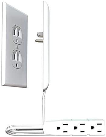 Sleek Socket Ultra-Thin Electrical Outlet Cover with 3 Outlet .