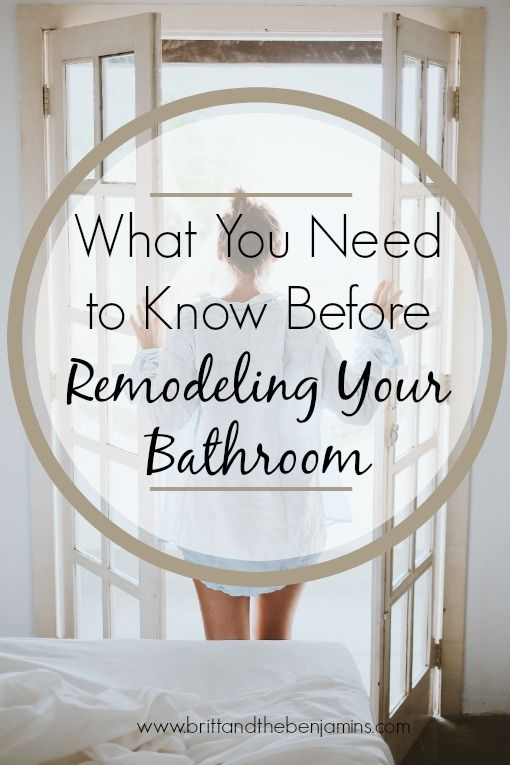 what you need to know before remodeling your bathroom | Half .