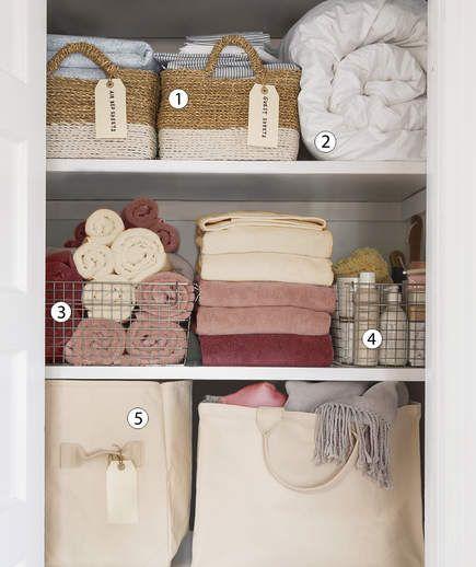 5 Smart Tips to Organize Your Linen Closet | Linen closet .