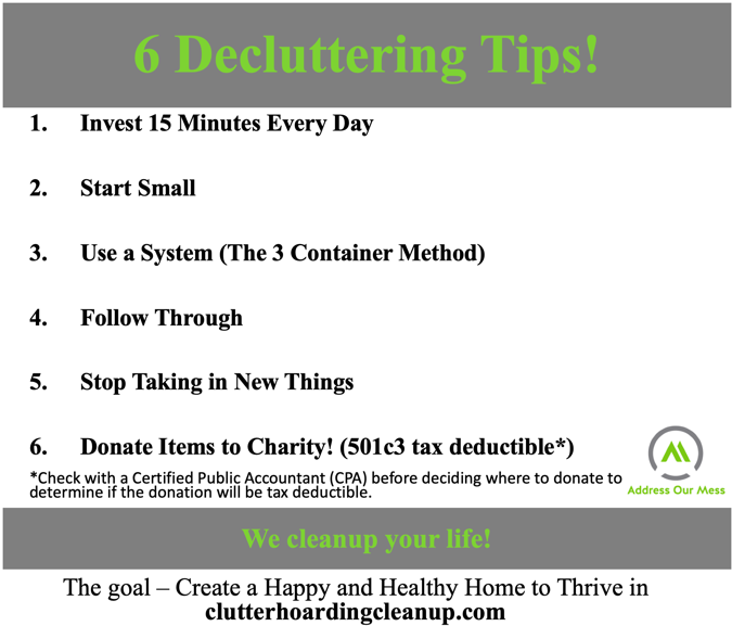 6 Decluttering Tips to be Clutter Free | Address Our Me