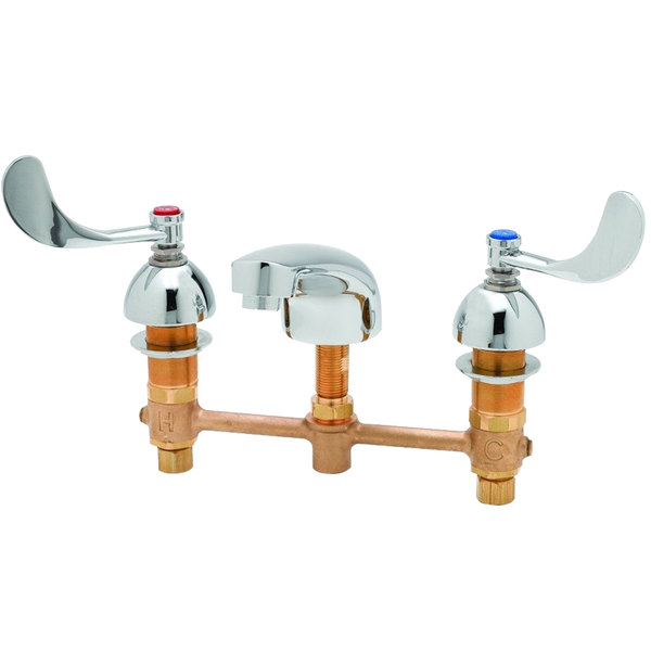 T&S B-2990-FL-WH4 Deck Mount Commercial Mixing Faucet with 6 .