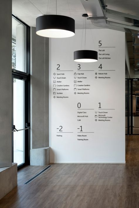 Office Tour: Microsoft House Offices – Milan | Wayfinding signage .
