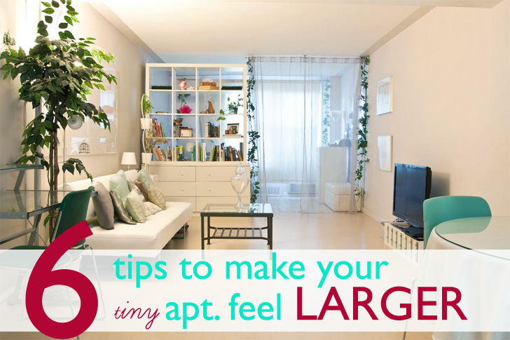 7 tips to create a spacious feeling in   your small apartment