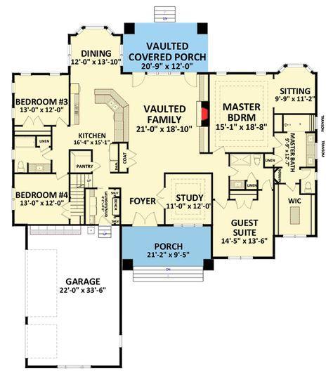 Plan 46294LA: Eye-Catching Craftsman House Plan | Craftsman house .