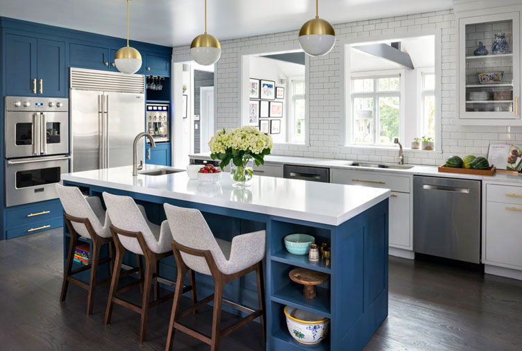 15 Gorgeous Dark Blue Kitchen Designs You'll Want to Re-Crea