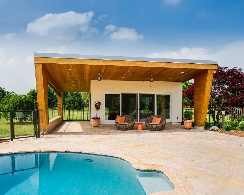 p3 Fantastic pool house designs that make your pool room look great