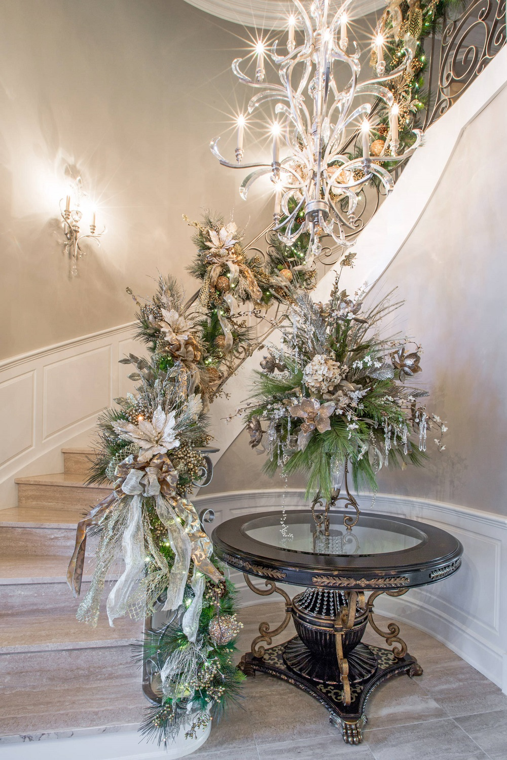 t3-159 Great decoration ideas for Christmas stairs that you should definitely try
