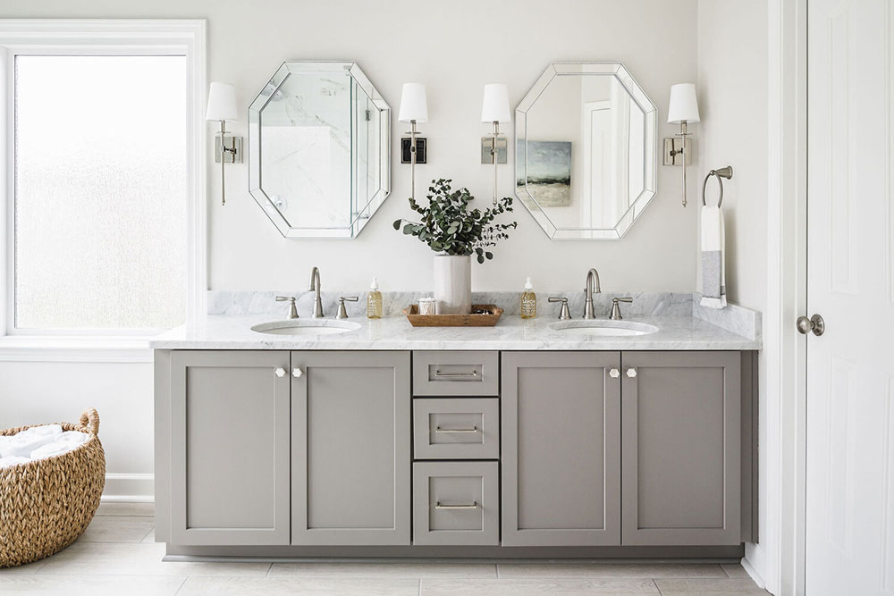 StoneCrest-Bathrooms-by-Delphinium-Design How to paint bathroom cabinets and make them look good