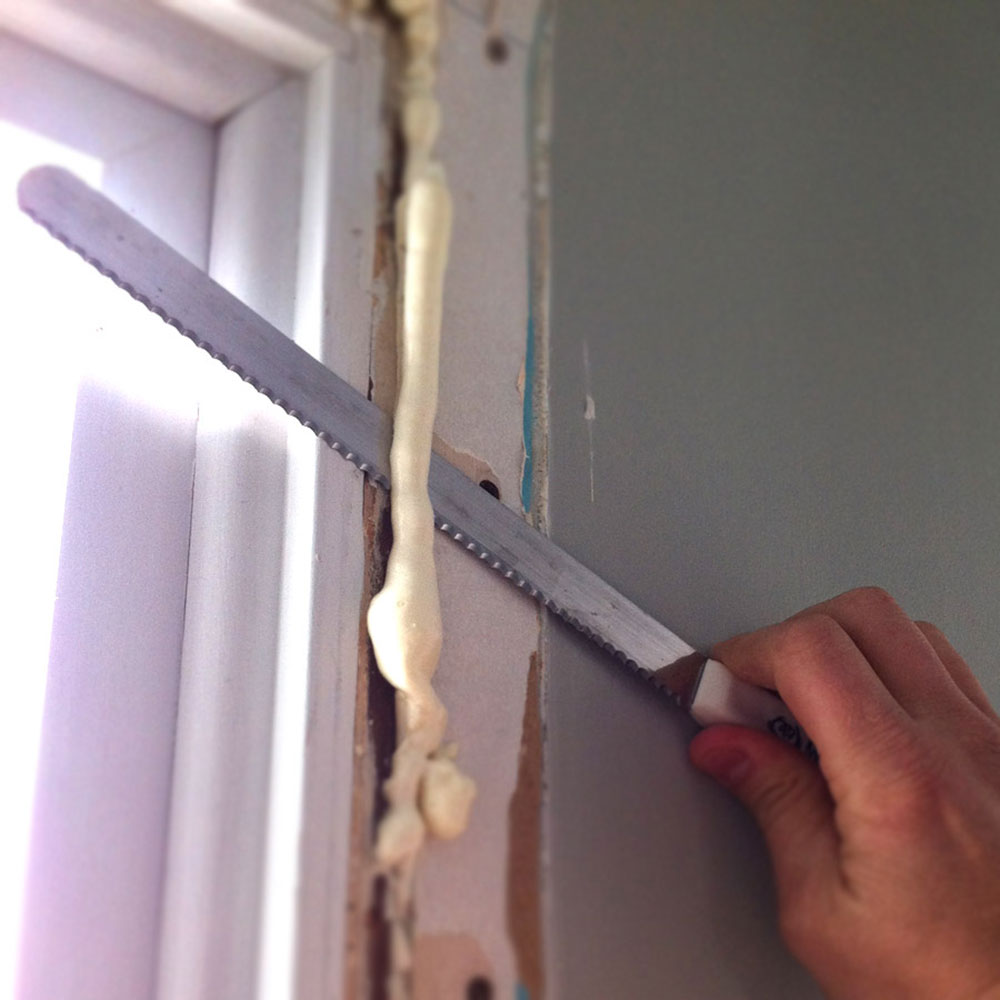 Removal How to remove the foam insulation quickly and easily