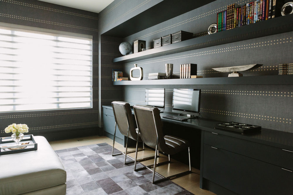 Textured-Ambiance-by-Amrami-Design-Build Modern home office ideas with which you can create your perfect space