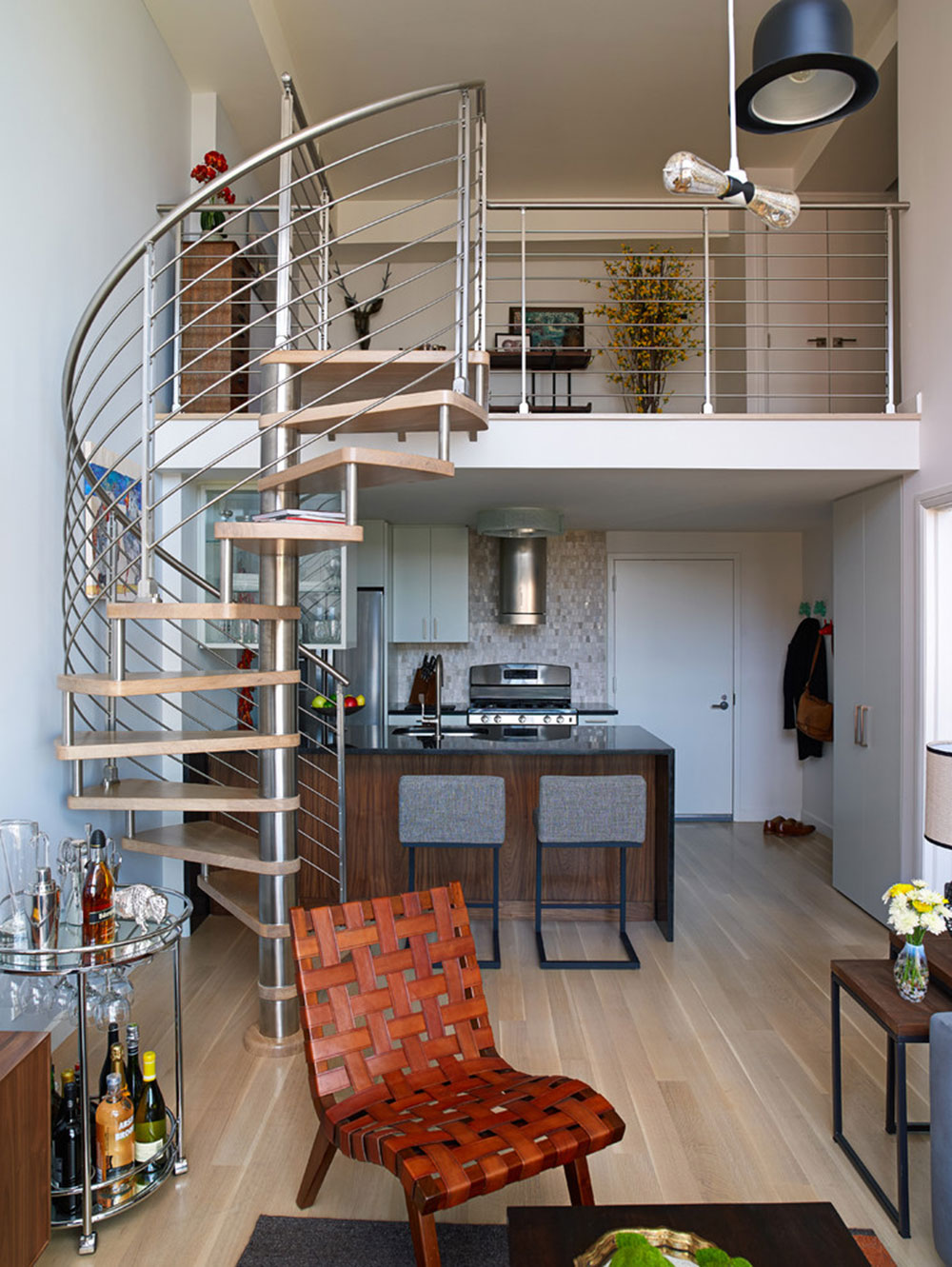 Urban-Retreat-by-EDGE-Design-LLC Spiral Staircase Pictures and Things You Should Know About Them