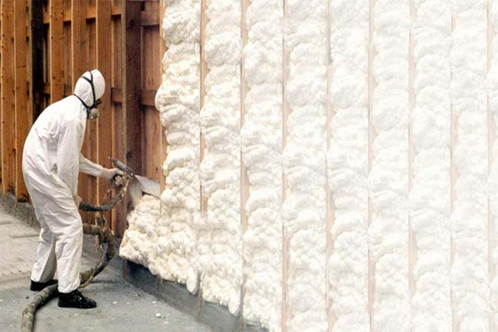 Spray-2 spray foam insulation against fiberglass, and that's better