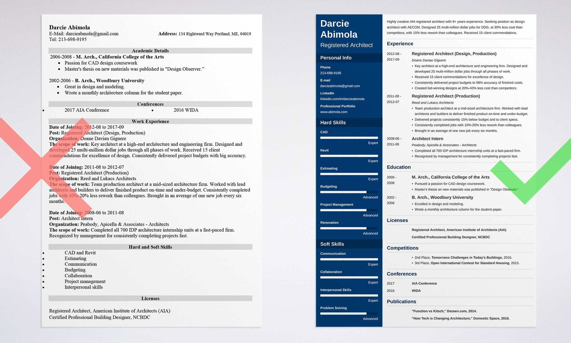 architecture_resume_sample_1 The architecture resume used to hire you (templates included)